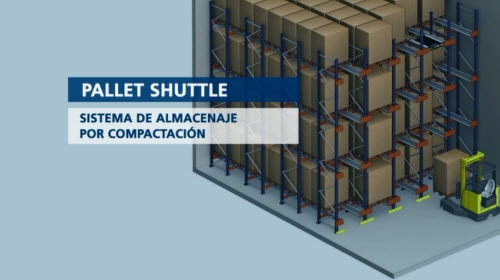 Pallet Shuttle: sistema de almacenaje por compactación