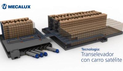Transelevador con carro satélite: compactación automática de tarimas