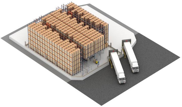 Sistema Pallet Shuttle automático con transelevador en el almacén de Pastelaria e Confeitaria Rolo