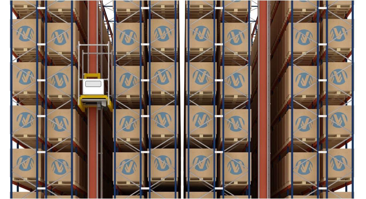 Almacén automático de tarimas y de cajas de Miguélez en España