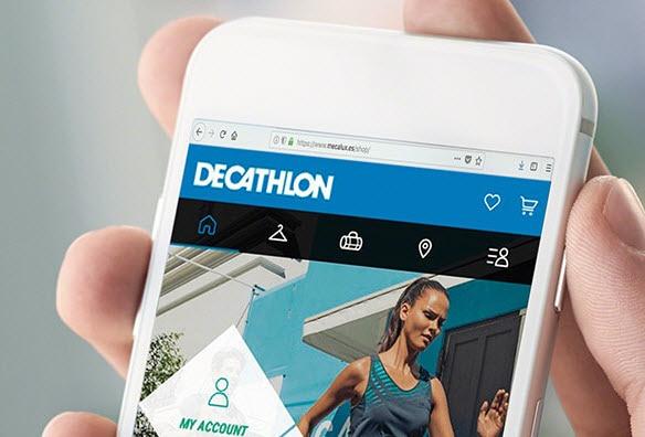 Estanterías para picking en el almacén de venta online de Decathlon