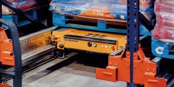 Sistema Pallet Shuttle en el almacén de Nestlé Purina