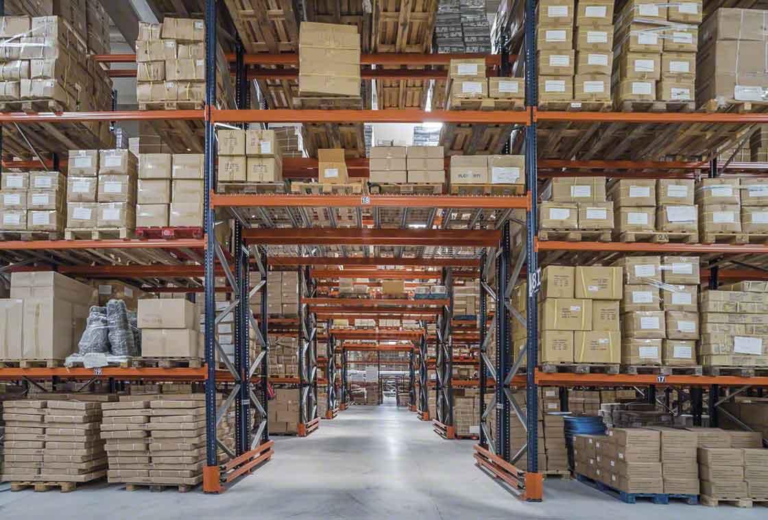 La paletización optimiza la capacidad de almacenaje de la instalación