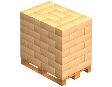Carga de una tarima con cajas entrelazadas